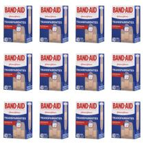 Band Aid Curativo Transparente C/40 (Kit C/12) -