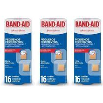 Band Aid Pequenos Ferimentos Curativo C/16 (Kit C/03) -