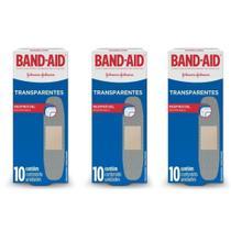 Band Aid Transparente Curativo C/10 (Kit C/03) -