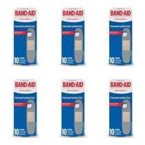 Band Aid Transparente Curativo C/10 (Kit C/06) -