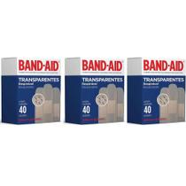 Band Aid Transparente Curativo C/40 (Kit C/03) -