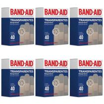 Band Aid Transparente Curativo C/40 (Kit C/06) -