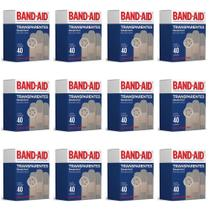 Band Aid Transparente Curativo C/40 (Kit C/12) -