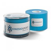 Bandagem Elástica Adesiva Azul Claro Kinesiosport 5cmx5mts -