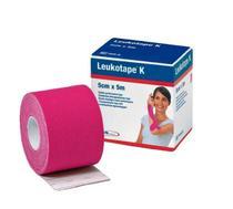 Bandagem Elástica Leukotape K 5cm x 5m Rosa BSN -