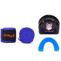 Bandagem Elástica + Protetor Bucal - Muay-Thai Boxe - Gorilla -
