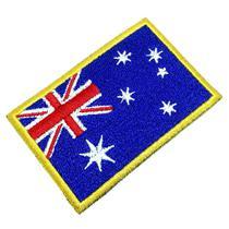 Bandeira Austrália Patch Bordado Para Uniforme Camisa Kimono - Br44