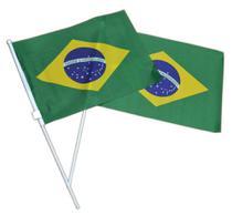 Bandeira Brasil com Haste Para Mão - Braslu