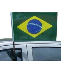 Bandeira Brasil Copa do Mundo Vidro Carro 2PC 42 x 29 cm - Commerce brasil