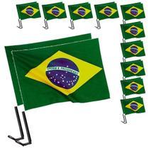 Bandeira Brasil Copa Mundo Vidro Carro 10 PARES CBRN06052 - Commerce brasil