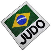 Bandeira Brasil Judo ATM078 Patch Bordado para Kimono Camisa - Br44