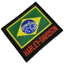 Bandeira Brasil moto patch bordado passar a ferro ou costura - Br44