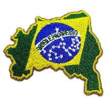 Bandeira Brasil Patch Bordado Para Uniforme Camisa Kimono - Br44