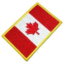 Bandeira Canadá Patch Bordado Para Uniforme Camisa Kimono - Br44