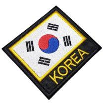 Bandeira Coreia do Sul Patch Bordado Para Uniforme Kimono - Br44