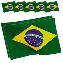 Bandeira do Brasil Copa do Mundo 60cmx90cm 5 PARES CBRN06076 - Commerce brasil