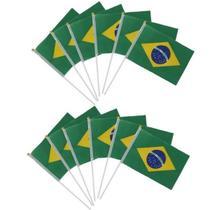 Bandeira do Brasil de Mão Tecido Kit Com 60 Unidades -