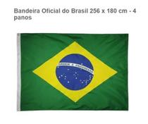 Bandeira do Brasil grande  ( 2,56 x 1,80m ) 4 panos - Mitraud