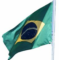 Bandeira do Brasil Oficial med. 0,90m x 1,28m (2 panos) - R. Coutinho & Cia Ltda Me