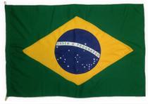 Bandeira do Brasil  Oficial Tamanho 68x97cm  Poliéster - Ecco Bandeiras