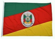 Bandeira do Rio Grande do Sul Tamanho 113x161cm Oficial Poliéster Dupla Face - Ecco Bandeiras