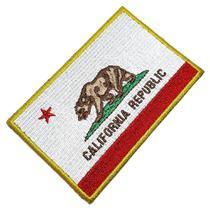 Bandeira Estado Califórnia EUA Patch Bordada Termo Adesivo - Br44