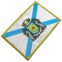 Bandeira Estado Guanabara Brasil Patch Bordada Termo Adesivo - Br44