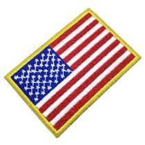 Bandeira EUA Estados Unidos da América Patch Bordado - Br44