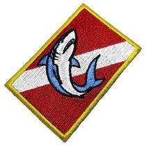 Bandeira Mergulho Patch Bordado Para Roupa Boné Mergulhador - Br44