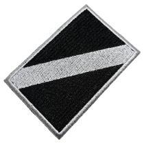 Bandeira Mergulho Patch Bordado Para Uniforme Camisa Mochila - Br44
