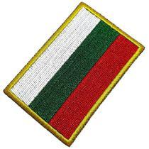 Bandeira País Bulgária Patch Bordada Termo Adesivo Para Boné - Br44