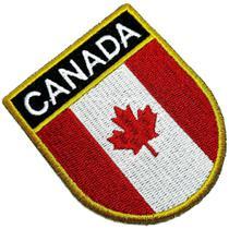 Bandeira país Canada Patch Bordada passar a ferro ou costura - Br44