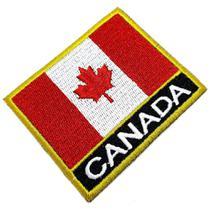 Bandeira País Canada Patch Bordada Termo Adesivo Para Kimono - Br44