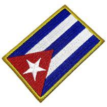 Bandeira País Cuba Patch Bordada Termo Adesivo Para Camisa - Br44