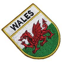 Bandeira País de Gales Patch Bordado Para Camisa Uniforme - Br44