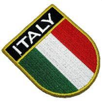 Bandeira país Itália Patch Bordada passar a ferro ou costura - Br44