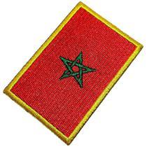 Bandeira País Marrocos Patch Bordada Termo Adesivo Para Boné - Br44