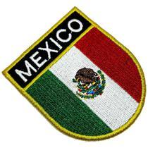 Bandeira país México Patch Bordada passar a ferro ou costura - Br44