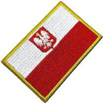 Bandeira País Polônia Patch Bordada Termo Adesivo Para Boné - Br44