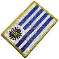 Bandeira País Uruguai Patch Bordada Termo Adesivo Para Boné - Br44