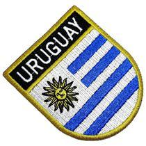 Bandeira País Uruguai Patch Bordada Termo Adesivo Para Roupa - Br44