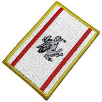 Bandeira Região Toscana Itália Patch Bordada Termo Adesivo - Br44