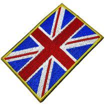 Bandeira Reino Unido Patch Bordada passar a ferro ou costura - Br44