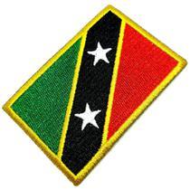 Bandeira São Cristóvão e Névis Patch Bordada, passar a ferro - Br44