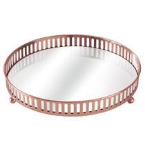 Bandeja com Espelho Suíça Cobre 20 cm - Mart