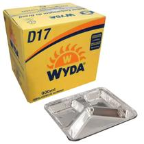 Bandeja de Alumínio 3 Divisórias D17 Wyda 900ml - 100 Unidades -