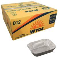 Bandeja de Alumínio Retangular D12 Wyda 220ml - 200 Unidades -