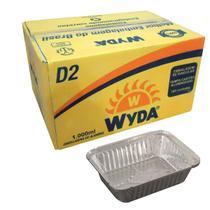Bandeja de Alumínio Retangular D2 Wyda 1000ml - 100 Unidades -