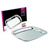 Bandeja de inox retangular 41x30cm ox prime na caixa - Wellmix -