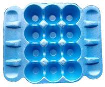 Bandeja De Isopor P 12 Ovos 24x20cm - Azul - Ultra C/200 -